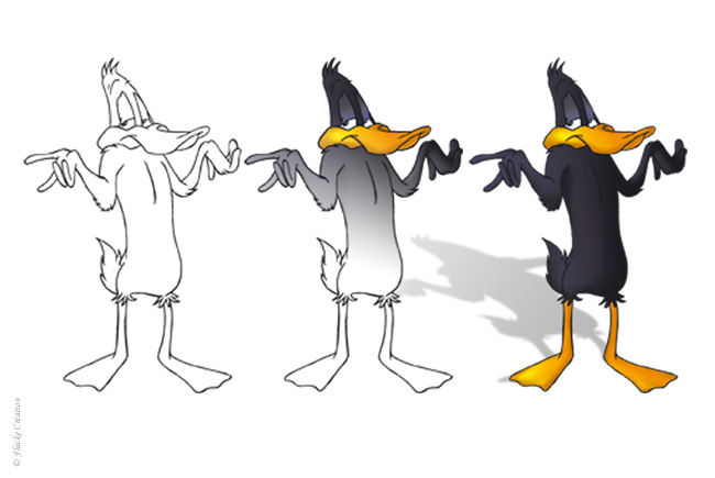 Illustration Daffy Duck 001